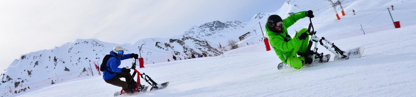 Snowscoot à Super besse avec le spécialiste outdoor Evolution 2